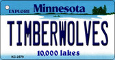 Timberwolves Minnesota State License Plate Wholesale Key Chain KC-2579