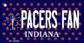 Pacers Fan Indiana State License Plate Wholesale Key Chain KC-10858