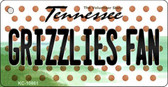 Grizzlies Fan Tennessee State License Plate Wholesale Key Chain KC-10861