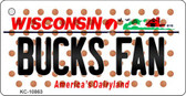 Bucks Fan Wisconsin State License Plate Wholesale Key Chain KC-10863