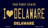 I Love Delaware State License Plate Wholesale Magnet M-6730