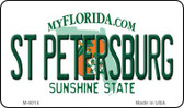 St Petersburg Florida State License Plate Wholesale Magnet M-6014