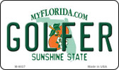 Golfer Florida State License Plate Wholesale Magnet M-6027