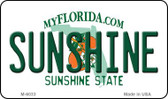 Sunshine Florida State License Plate Wholesale Magnet M-6033