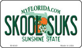 Skool Suks Florida State License Plate Wholesale Magnet M-6040