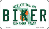 Biker Florida State License Plate Wholesale Magnet M-6044