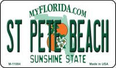 St Pete Beach Florida State License Plate Wholesale Magnet M-11084