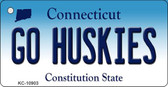 Go Huskies Connecticut State License Plate Wholesale Key Chain KC-10903