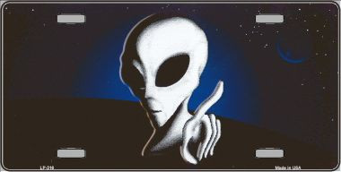 Space Alien Wholesale Metal Novelty License Plate LP-316