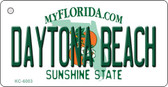 Daytona Beach Florida State License Plate Wholesale Key Chain KC-6003