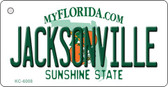 Jacksonville Florida State License Plate Wholesale Key Chain KC-6008