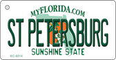 St Petersburg Florida State License Plate Wholesale Key Chain KC-6014