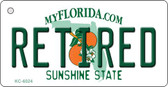 Retired Florida State License Plate Wholesale Key Chain KC-6024