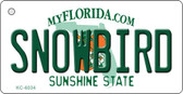 Snowbird Florida State License Plate Wholesale Key Chain KC-6034