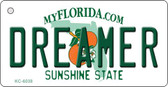 Dreamer Florida State License Plate Wholesale Key Chain KC-6038