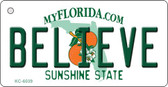 Believe Florida State License Plate Wholesale Key Chain KC-6039