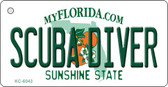 Scuba Diver Florida State License Plate Wholesale Key Chain KC-6043