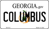 Columbus Georgia State License Plate Novelty Wholesale Magnet M-6141