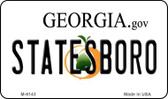 Statesboro Georgia State License Plate Novelty Wholesale Magnet M-6143