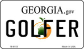 Golfer Georgia State License Plate Novelty Wholesale Magnet M-6153