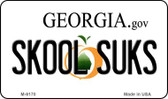 Skool Suks Georgia State License Plate Novelty Wholesale Magnet M-6170