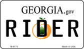 Rider Georgia State License Plate Novelty Wholesale Magnet M-6173