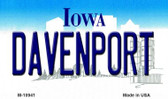 Davenport Iowa State License Plate Novelty Wholesale Magnet M-10941