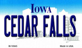 Cedar Falls Iowa State License Plate Novelty Wholesale Magnet M-10945