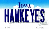 Hawkeyes Iowa State License Plate Novelty Wholesale Magnet M-10949