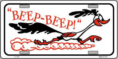 Beep Beep Roadrunner Wholesale Metal Novelty License Plate LP-318