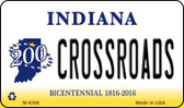 Crossroads Indiana State License Plate Novelty Wholesale Magnet M-6369