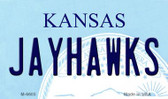 Jayhawks Kansas State License Plate Novelty Wholesale Magnet M-6605