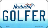 Golfer Kentucky State License Plate Novelty Wholesale Magnet M-6774