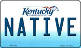 Native Kentucky State License Plate Novelty Wholesale Magnet M-6783