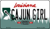 Cajun Girl Louisiana State License Plate Novelty Wholesale Magnet M-6183