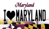 I Love Maryland State License Plate Wholesale Magnet