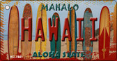 Hawaii Surboards Novelty Wholesale Metal Key Chain KC-7831