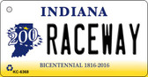 Raceway Indiana State License Plate Novelty Wholesale Key Chain KC-6368