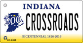 Crossroads Indiana State License Plate Novelty Wholesale Key Chain KC-6369