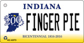 Finger Pie Indiana State License Plate Novelty Wholesale Key Chain KC-6373
