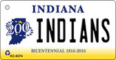 Indians Indiana State License Plate Novelty Wholesale Key Chain KC-6374