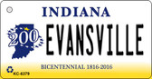 Evansville Indiana State License Plate Novelty Wholesale Key Chain KC-6379