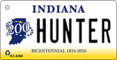 Hunter Indiana State License Plate Novelty Wholesale Key Chain KC-6388