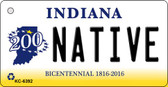 Native Indiana State License Plate Novelty Wholesale Key Chain KC-6392