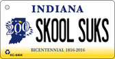 Skool Suks Indiana State License Plate Novelty Wholesale Key Chain KC-6404