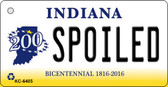 Spoiled Indiana State License Plate Novelty Wholesale Key Chain KC-6405