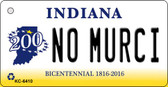 No Murci Indiana State License Plate Novelty Wholesale Key Chain KC-6410