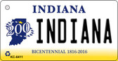 Indiana State License Plate Novelty Wholesale Key Chain KC-6411