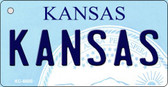 Kansas State License Plate Novelty Wholesale Key Chain KC-6600