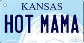 Hot Mama Kansas State License Plate Novelty Wholesale Key Chain KC-6615